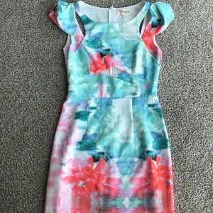 Watercolor Cut Out Dress